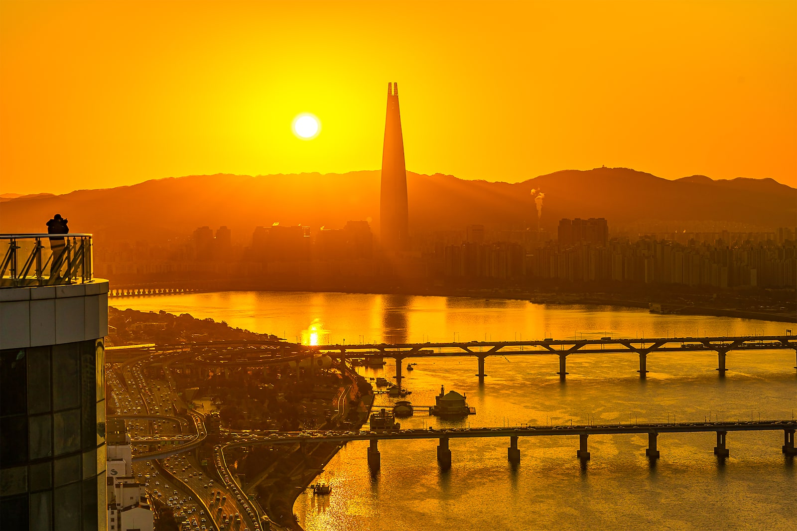 sunset over han river seoul alpha 7III