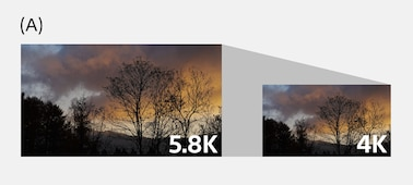 Two landscape images with longer and shorter arrows indicating different production times