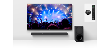 HT-G700 with TV and subwoofer