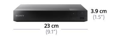 Dimensions of Blu-ray Disc™ Player