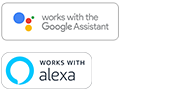 Logos for Google Assistant built-in and Amazon Alexa built-in