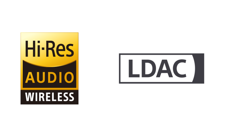 Hi-Res Audio wireless and LDAC logos