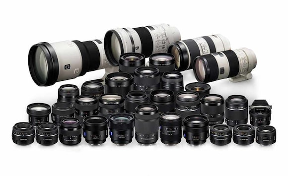 Lenses for Sony DSLR-like cameras
