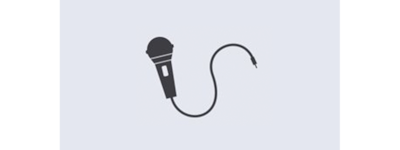 Karaoke microphone icon