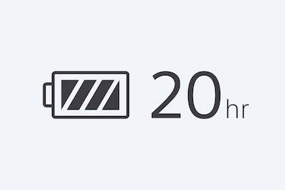 20hr battery life icon