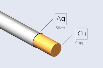 Silver-coated oxygen-free copper cable