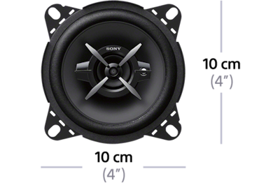 "Dimensions of 10cm (4"") 3-Way Coaxial Speakers"