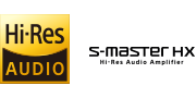 Hi=Resolution Audio and S-Master Hx™ logos