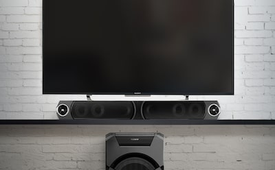 Wireless home stereo system with ClearAudio+