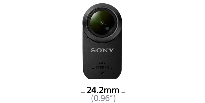 Dimensions of HDR-AS50R Action Cam with Live-View Remote